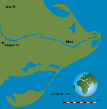 Map Of Spain Ebro River.Delta Alliance Spain Wing