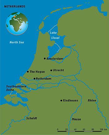 Delta Alliance Netherlands Wing - Netherlands rivers map