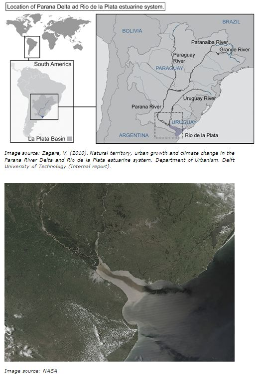 Delta Alliance Parana - Parana river map