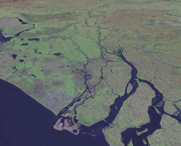 The Rhine-Meuse delta from space